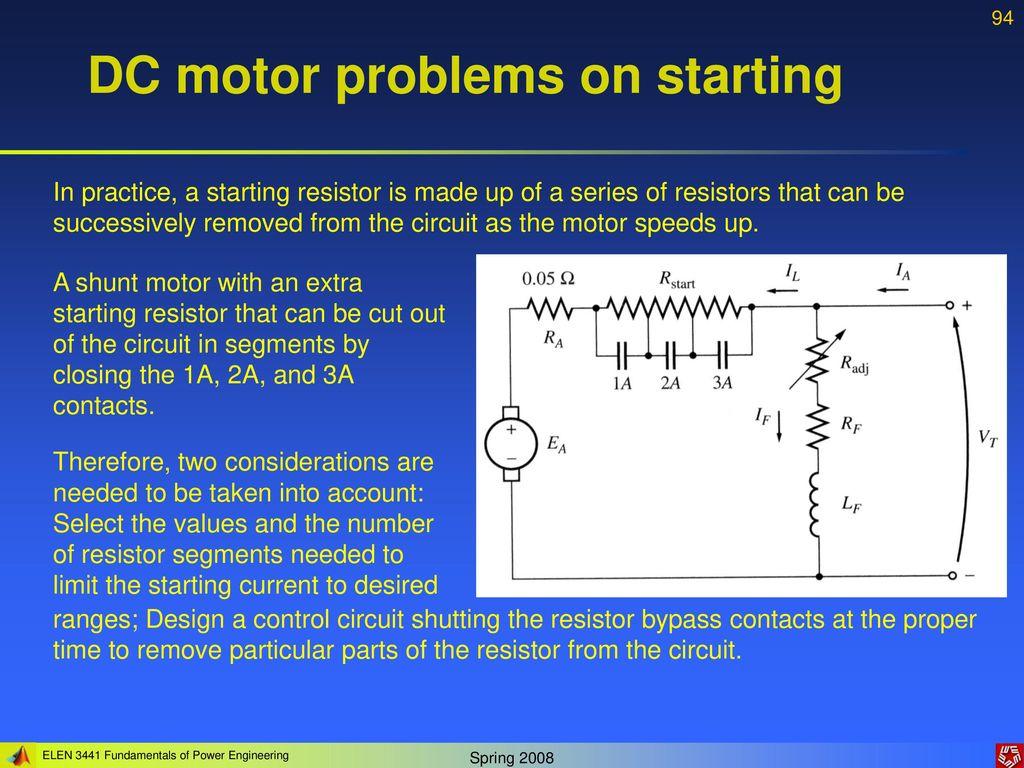 Lecture 5 Dc Motors Instructor Dr Gleb V Tcheslavski Ppt Download Shunt Motor Wiring Diagram Also Besides Problems On Starting