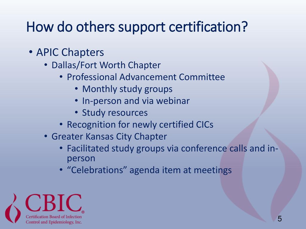 Collaboration And Support Of The Cic Certification Examination