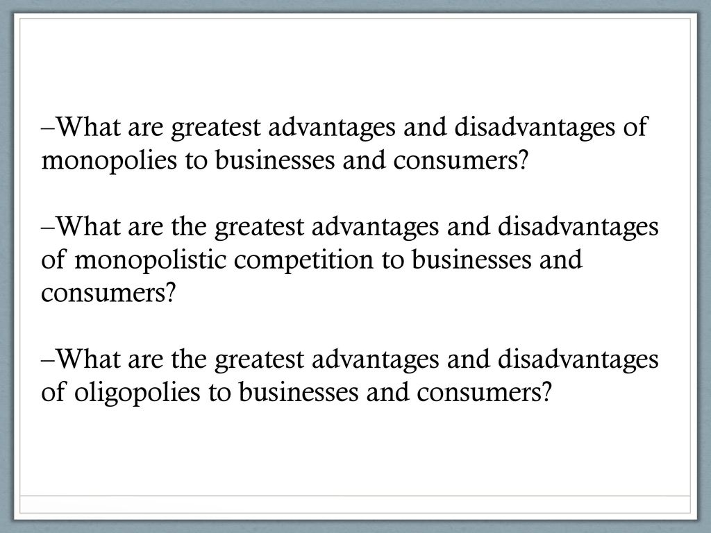 disadvantages of an oligopoly