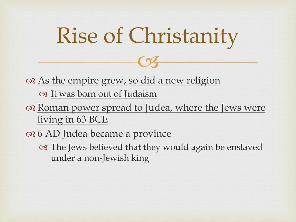 Religion and the Roman Empire - ppt download