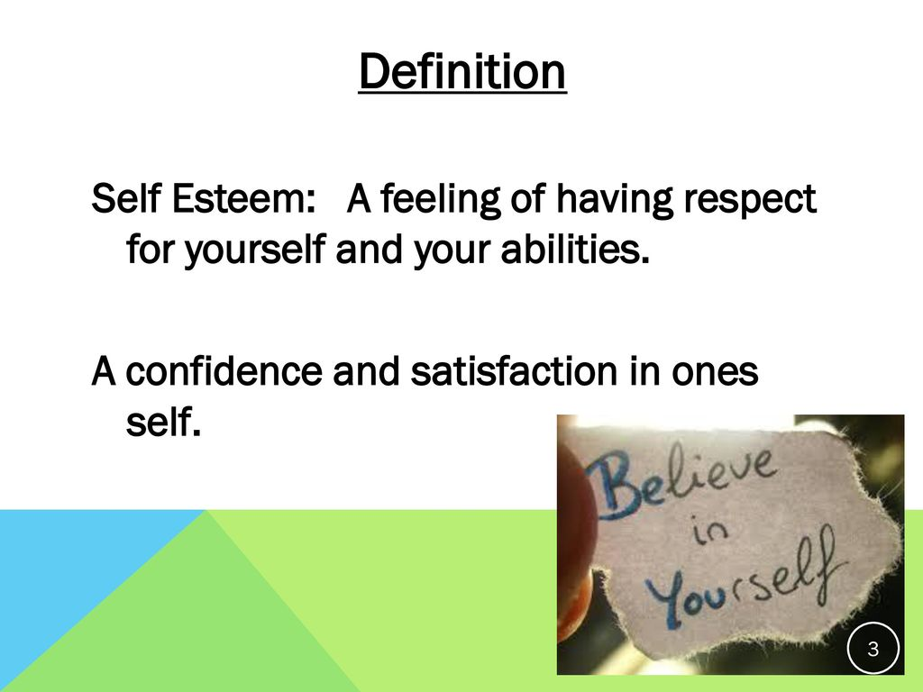 the definition of self respect