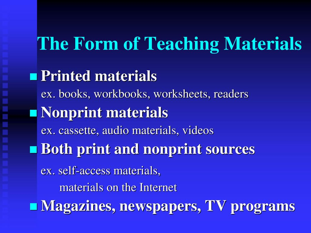 The Role And Design Of Instructional Materials Ppt Download