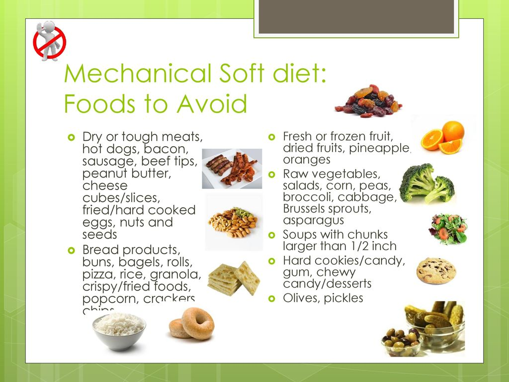 what is included in a mechanical soft diet