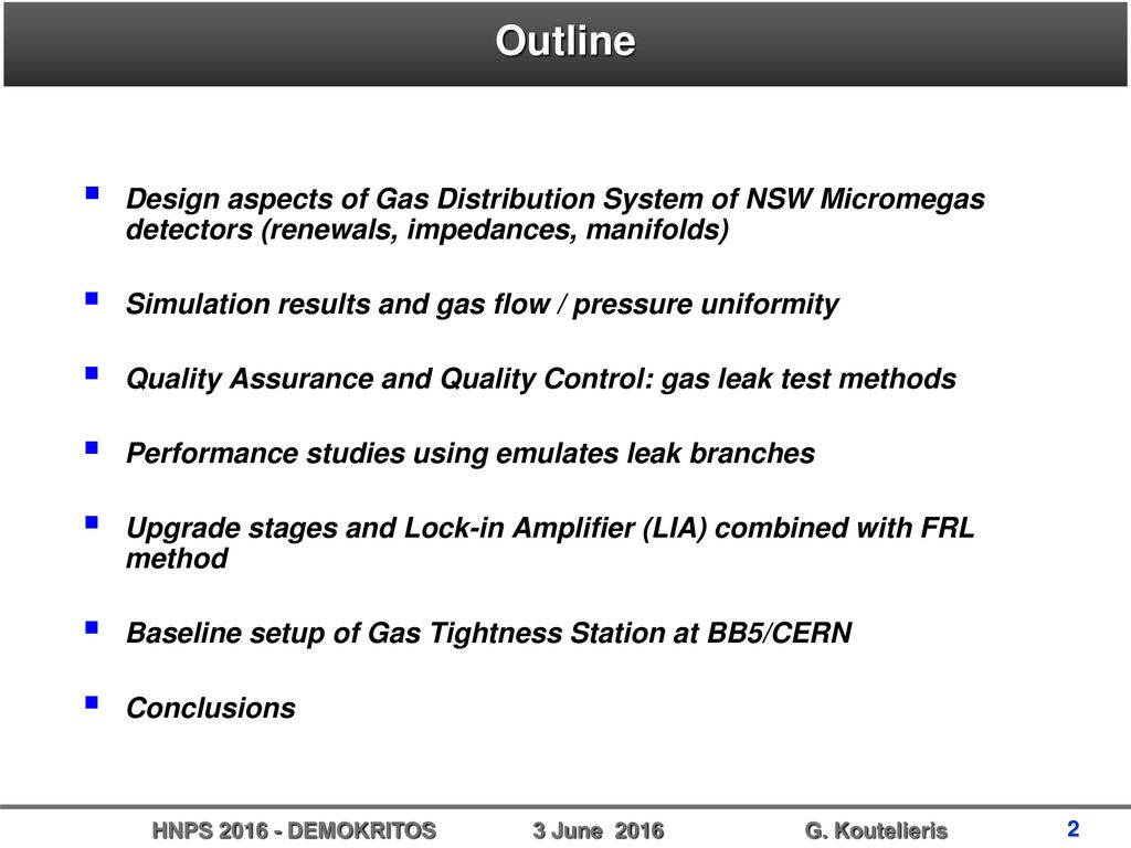 Ntua Gas System For The Atlas Nsw Micromegas Detectors Design Simulation Of A Lockin Amplifier 2 Outline