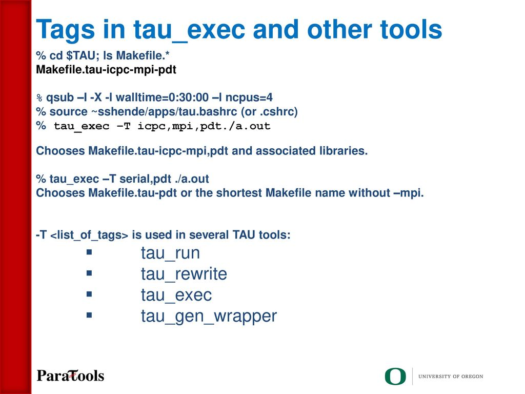 TAU Open Source Performance Tool for HPC - ppt download