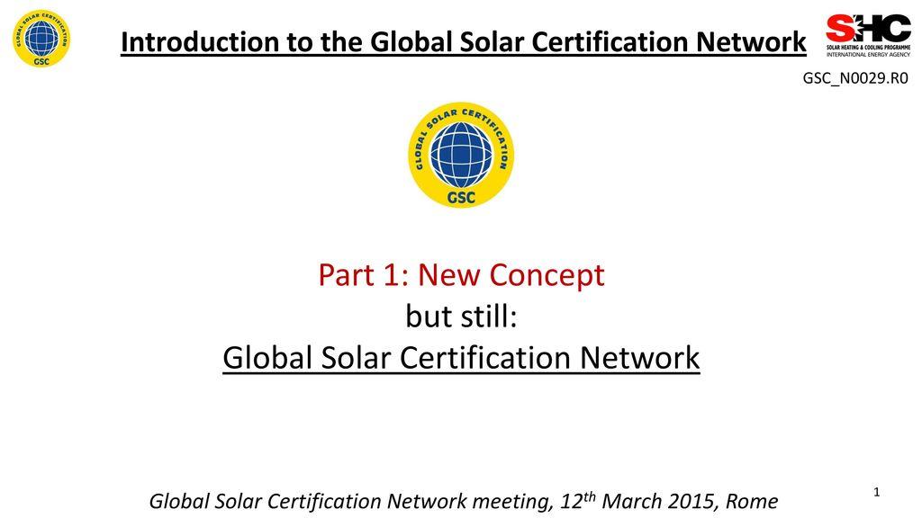 Global Solar Certification Network Ppt Download