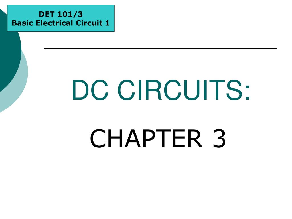 Basic Electrical Circuit 1 Ppt Download The Dc
