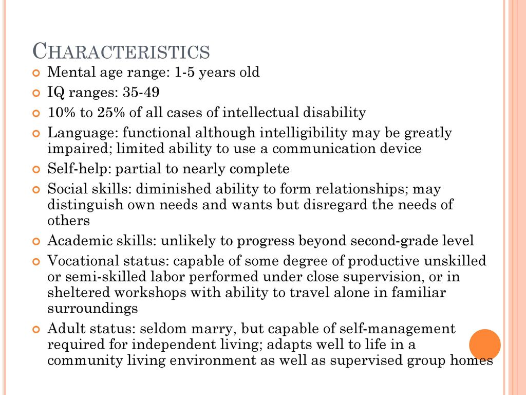 Moderately Intellectually Disabled - ppt download