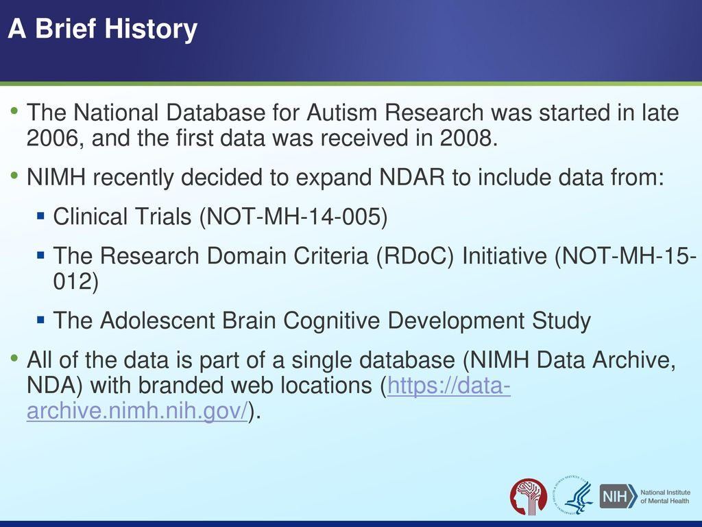 A Brief History Of Autism Research >> Making Data From Niaaa Funded Grants Ppt Download