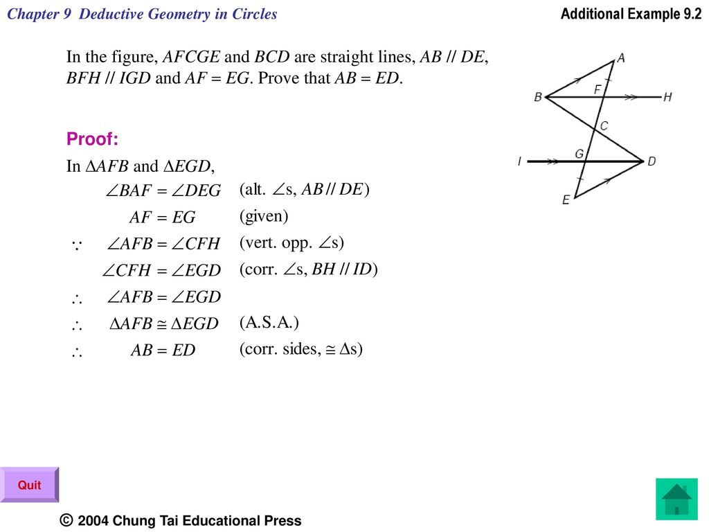 Chapter 9 Deductive Geometry in Circles - ppt download