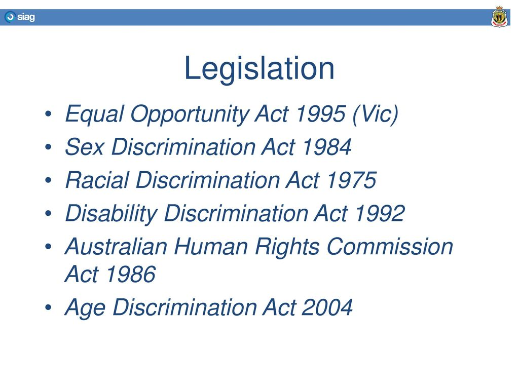 What is the sex discrimination act 1984 valuable