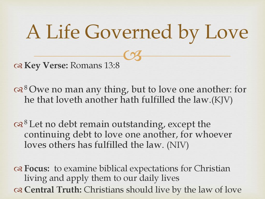 Sunday in the Word Letter to the Romans A life Governed by Love