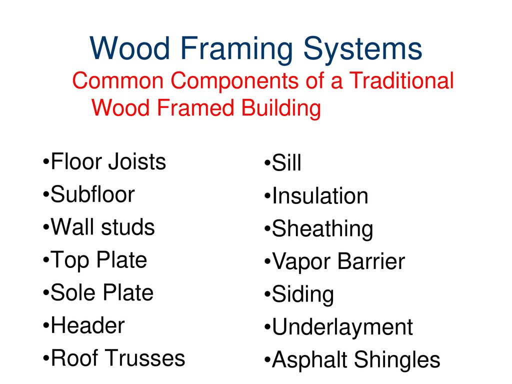 Wood Frame Systems Civil Engineering and Architecture® - ppt download