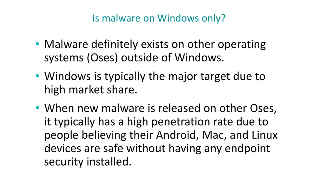 Is malware on Windows only