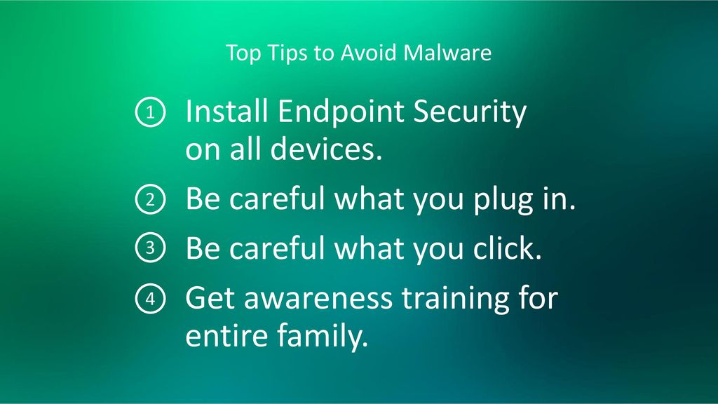 Top Tips to Avoid Malware