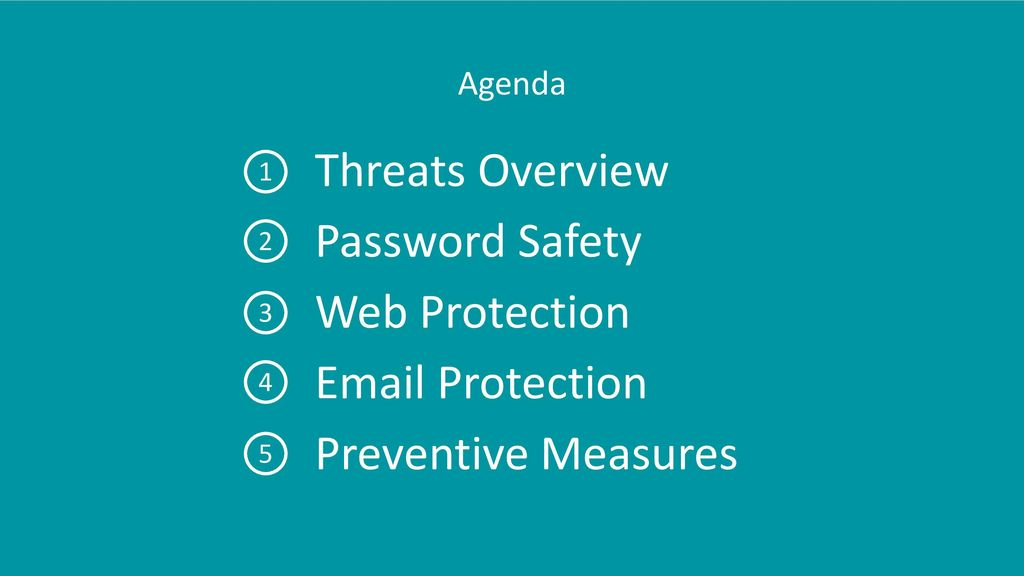 Threats Overview Password Safety Web Protection  Protection