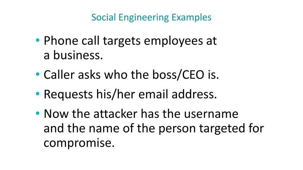 Social Engineering Examples