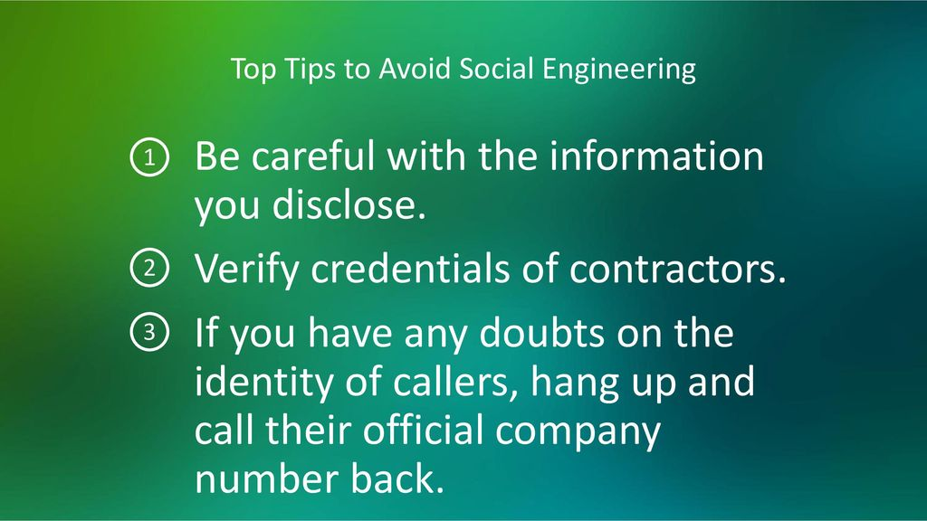 Top Tips to Avoid Social Engineering
