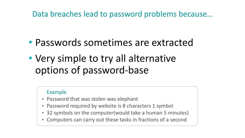 Data breaches lead to password problems because…