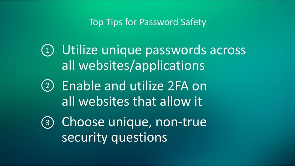 Top Tips for Password Safety