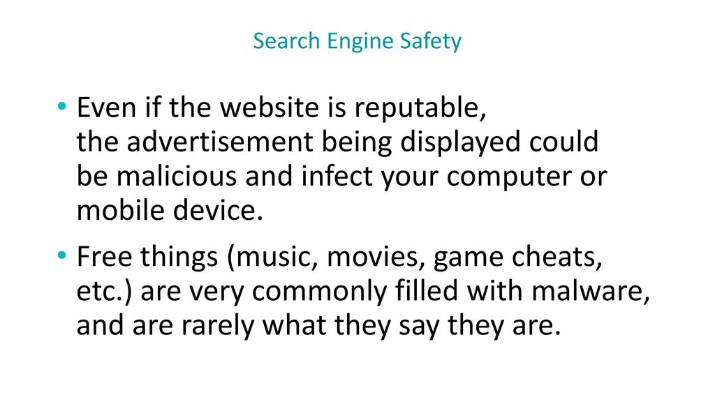 Search Engine Safety