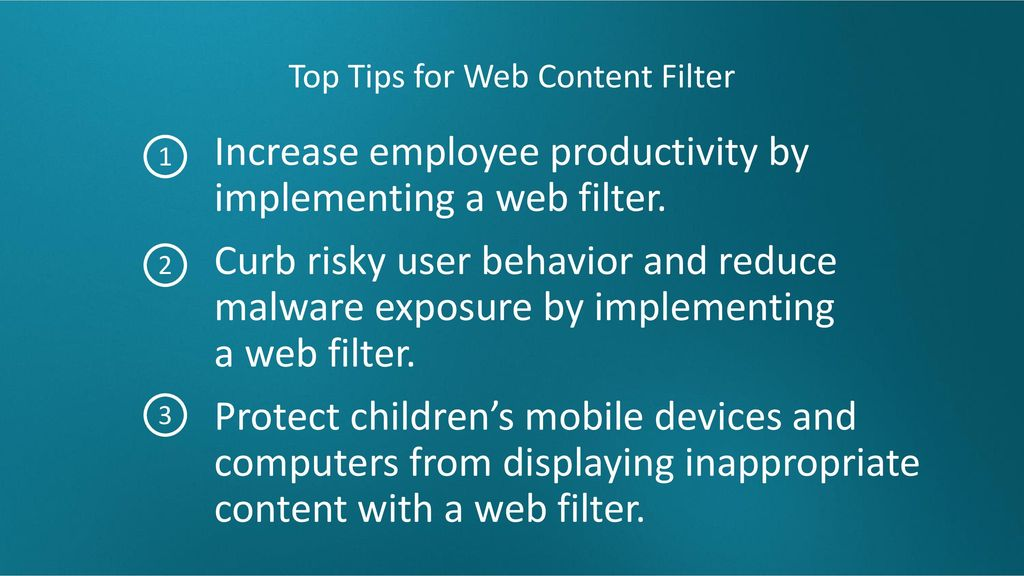 Top Tips for Web Content Filter
