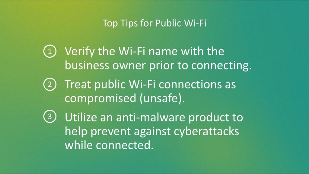 Top Tips for Public Wi-Fi
