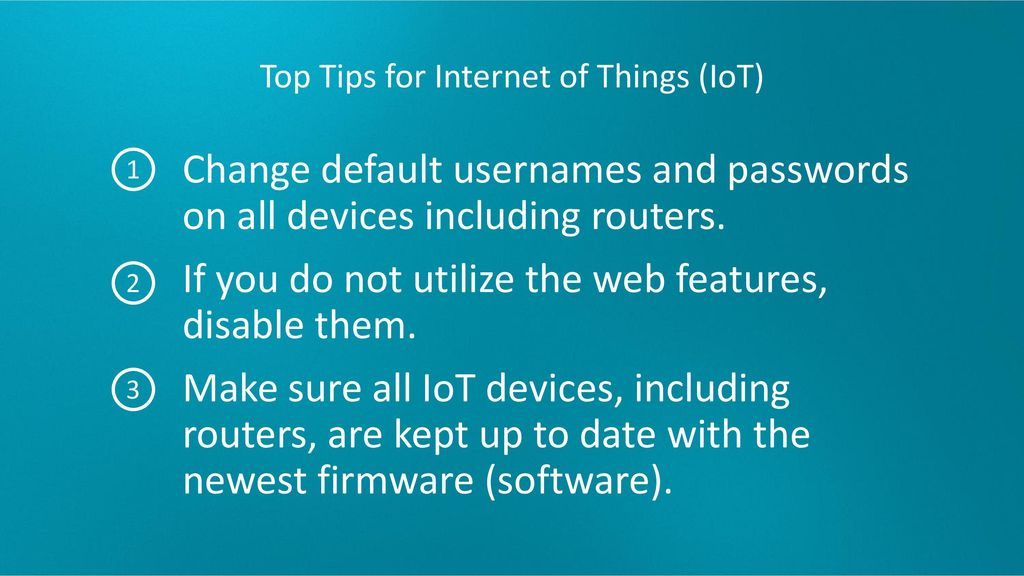 Top Tips for Internet of Things (IoT)
