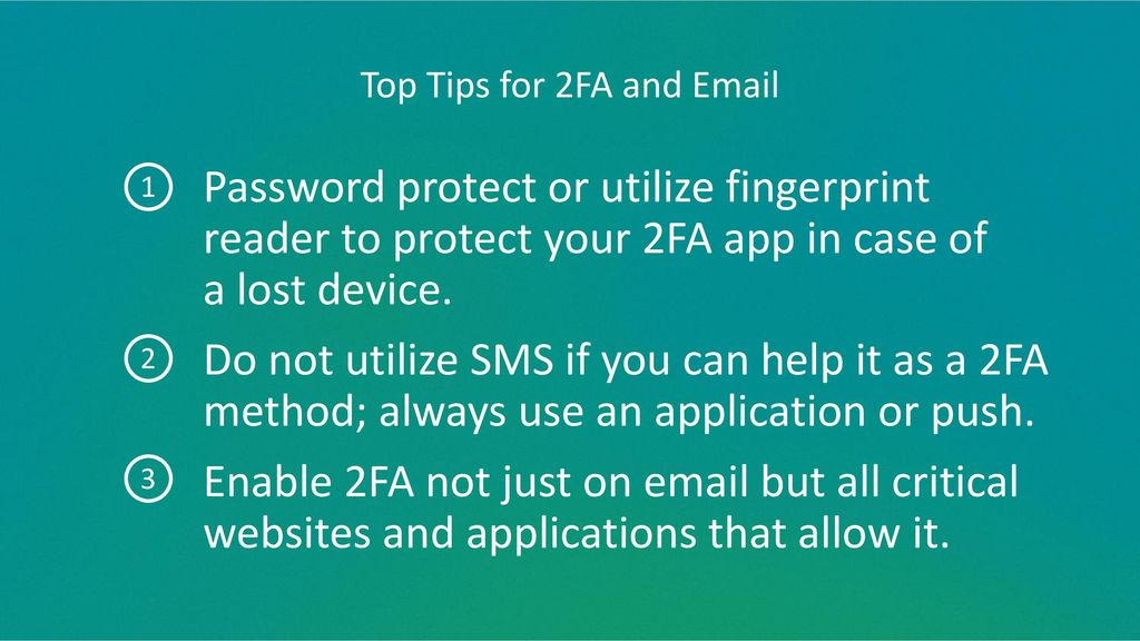 Top Tips for 2FA and