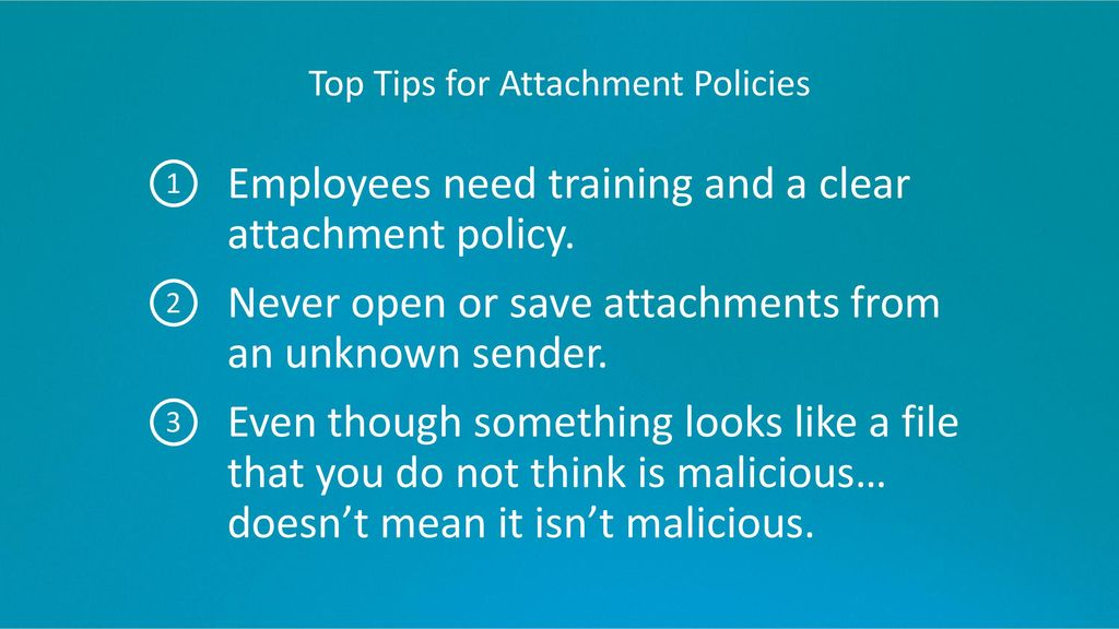 Top Tips for Attachment Policies
