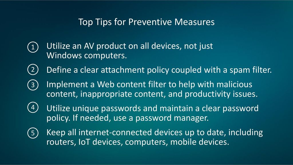 Top Tips for Preventive Measures