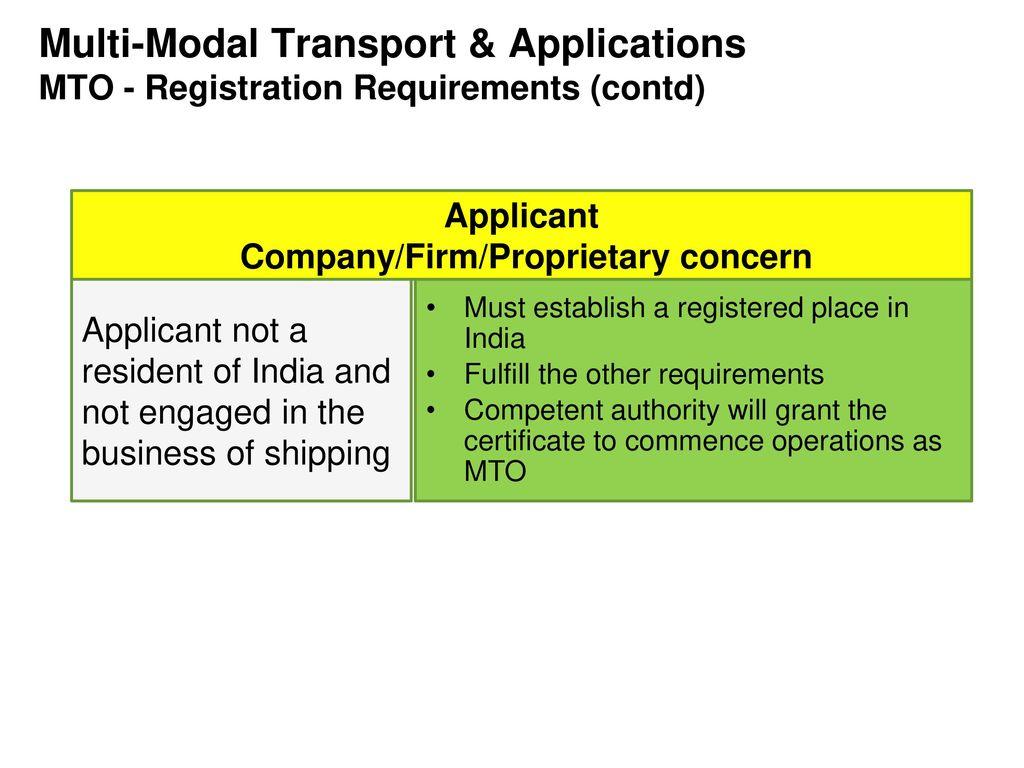 Multi-Modal Transport & Applications - ppt download