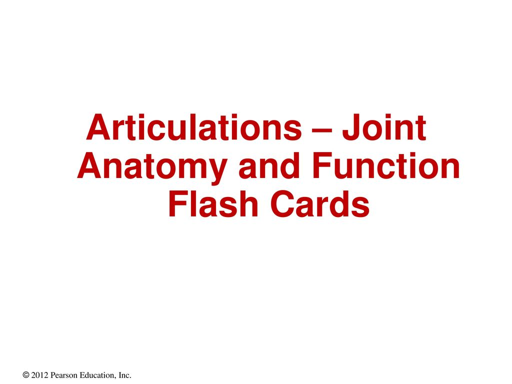 Articulations Joint Anatomy And Function Flash Cards Ppt Download