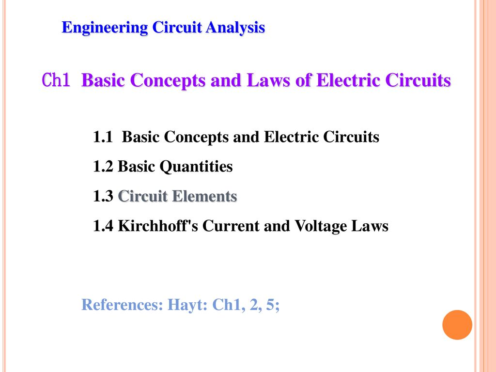 Engineering Circuit Analysis Prof Li Chen Imperial College Of Electronic Circuits Electronics Free Ch1 Basic Concepts And Laws Electric