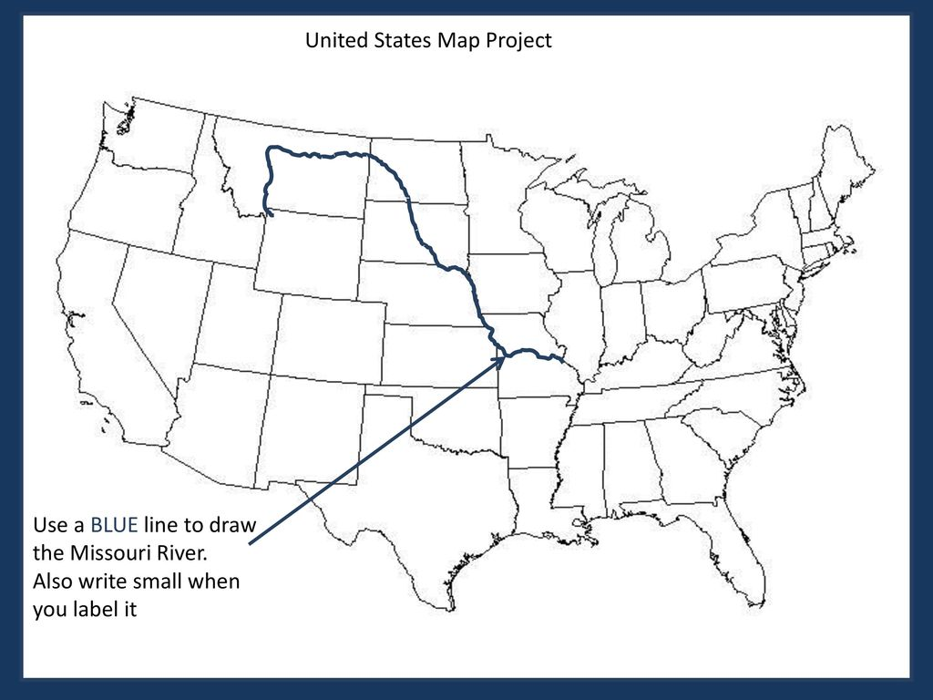 Us Map Line Drawing.U S A Map Instructions Rubric Ppt Download