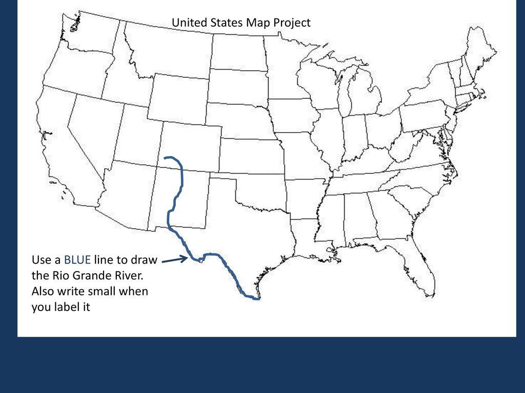 Usa Map Instructions Rubric Ppt Download - Rio-grande-on-us-map