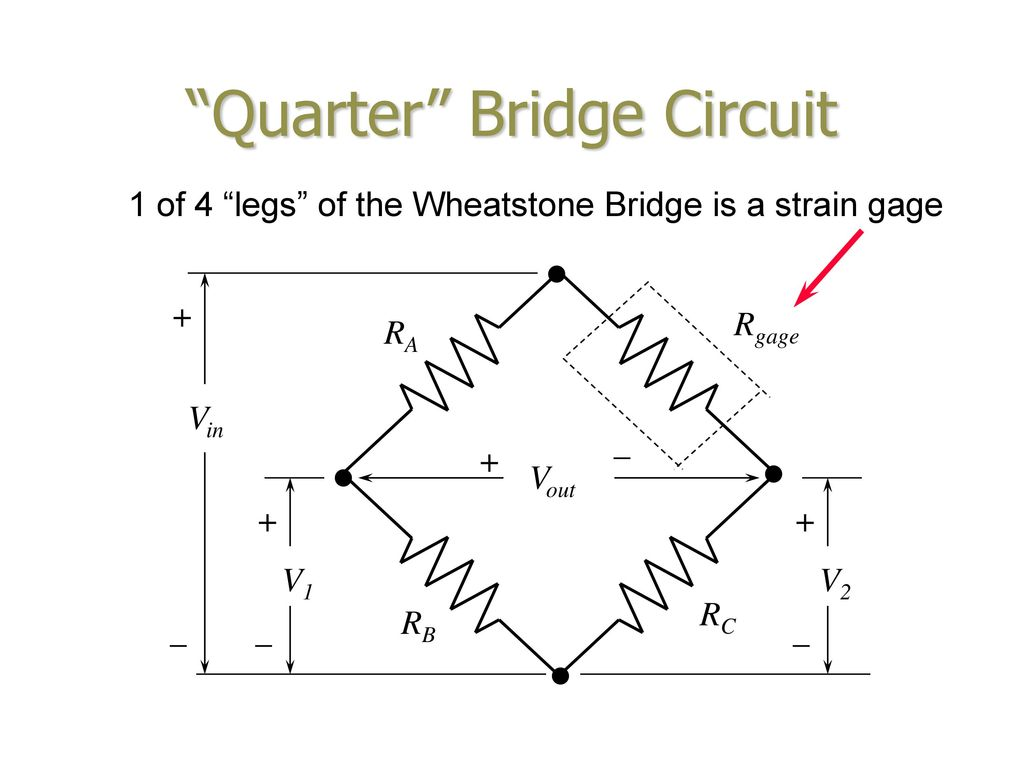 Foil Element Strain Gage Ppt Download Wheatstone Bridge Wiring Diagram Quarter Circuit