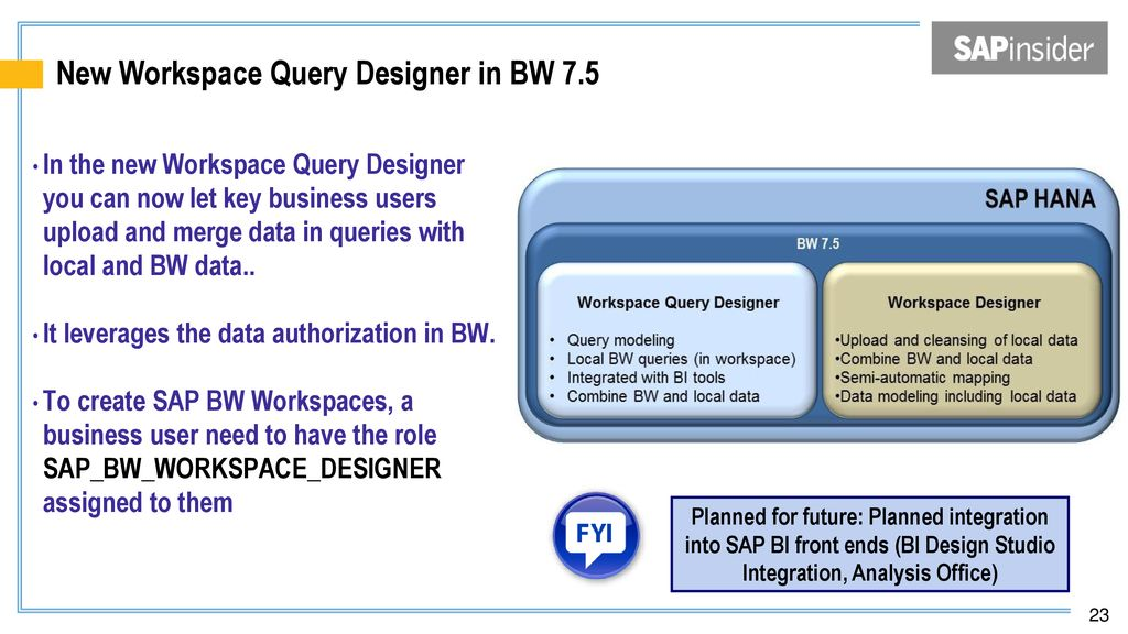 Deep dive into the new features and functions of SAP BW 7 - ppt download