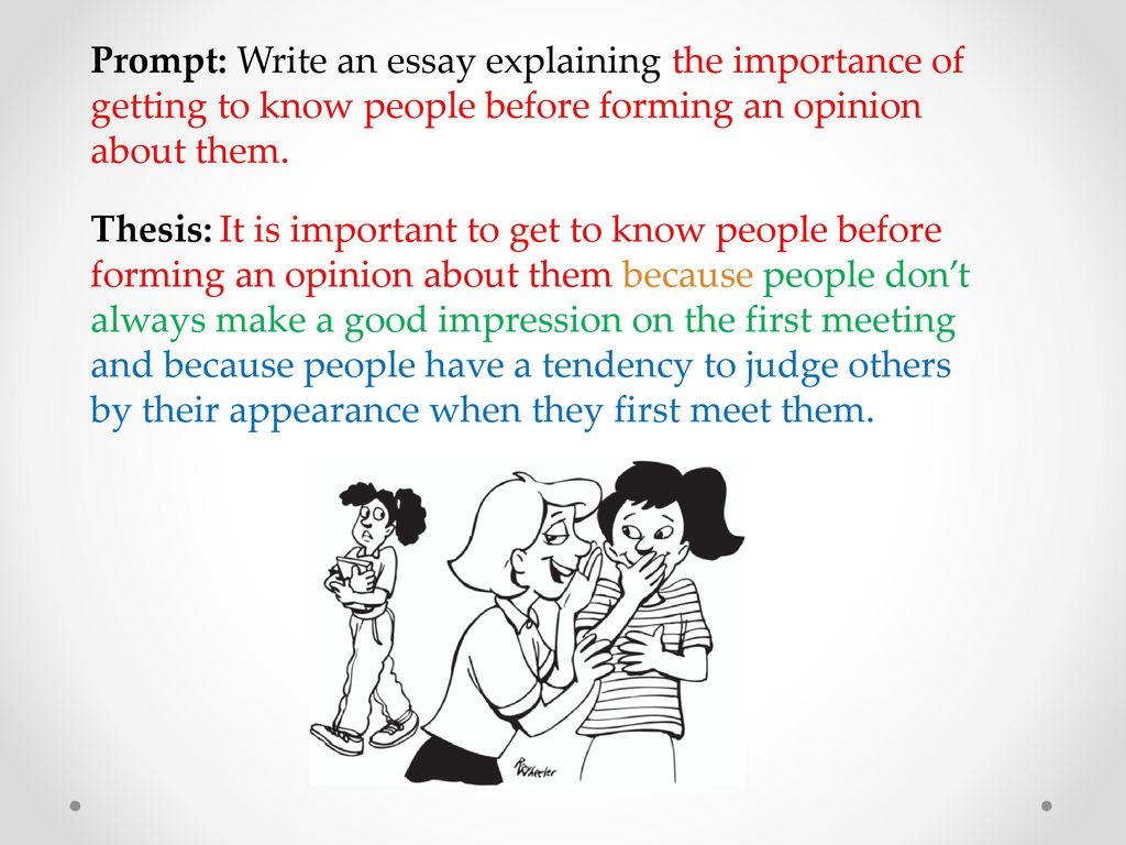 Word Of The Day Hypothetical Adj  Ppt Download Prompt Write An Essay Explaining The Importance Of Getting To Know People  Before Forming An