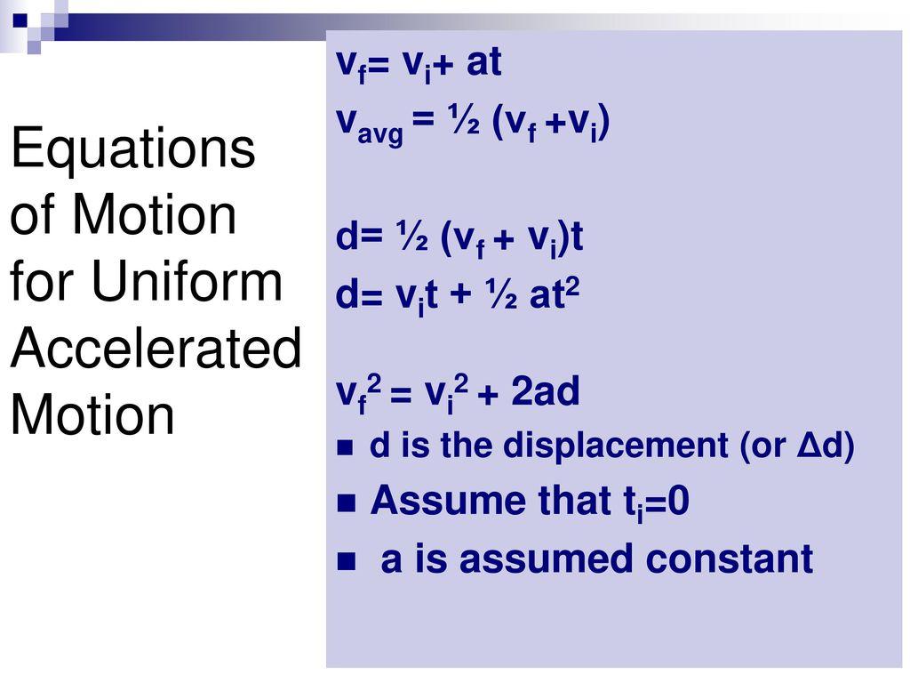 Uniformly accelerated motion. Tasks and formulas 25