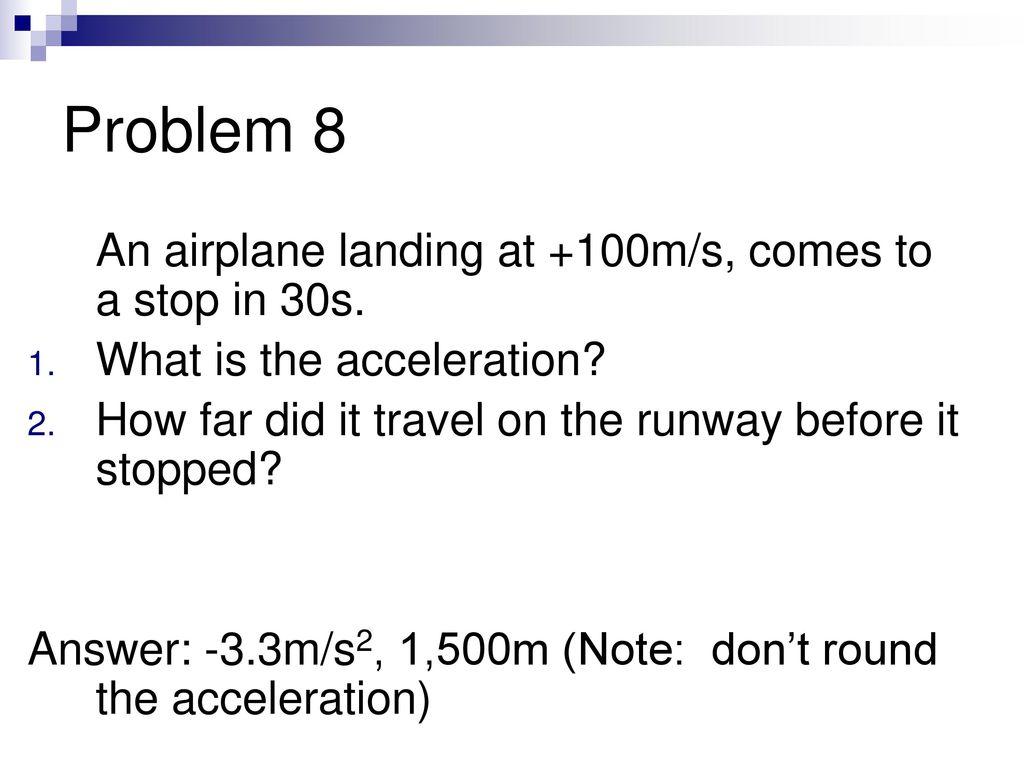 Uniformly accelerated motion. Tasks and formulas 2