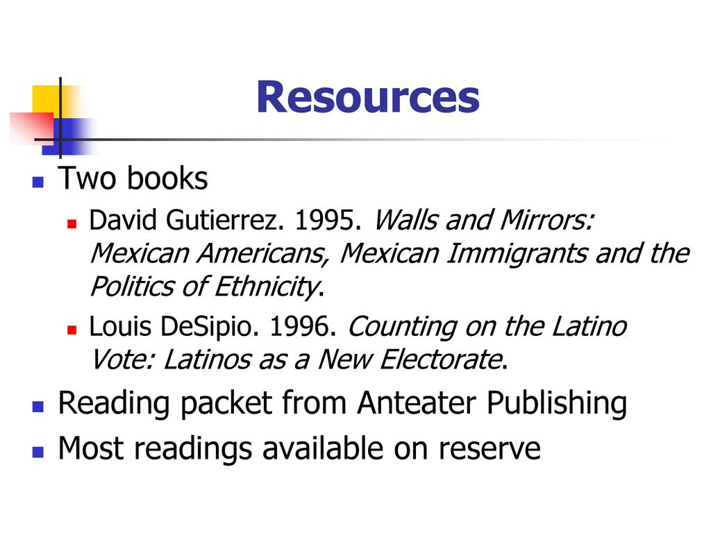 5 Resources Two books Reading packet from Anteater Publishing David  Gutierrez Walls and Mirrors: Mexican Americans, Mexican Immigrants and the  Politics ...
