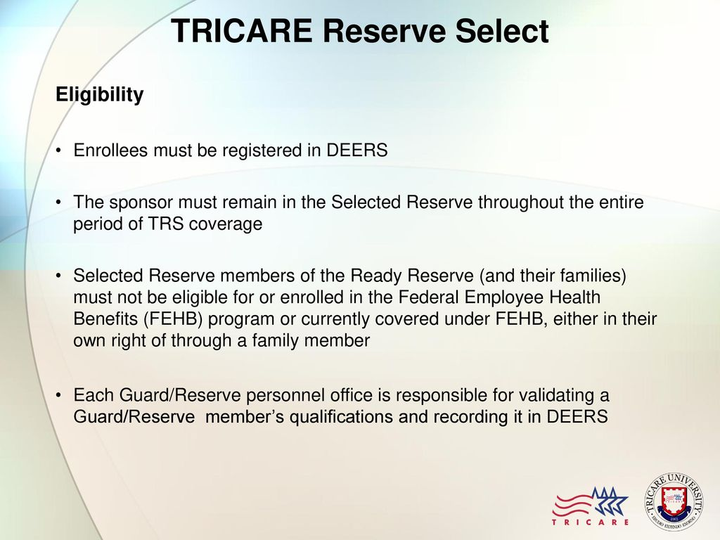 Module 7 Tricare Reserve Select Ppt Download