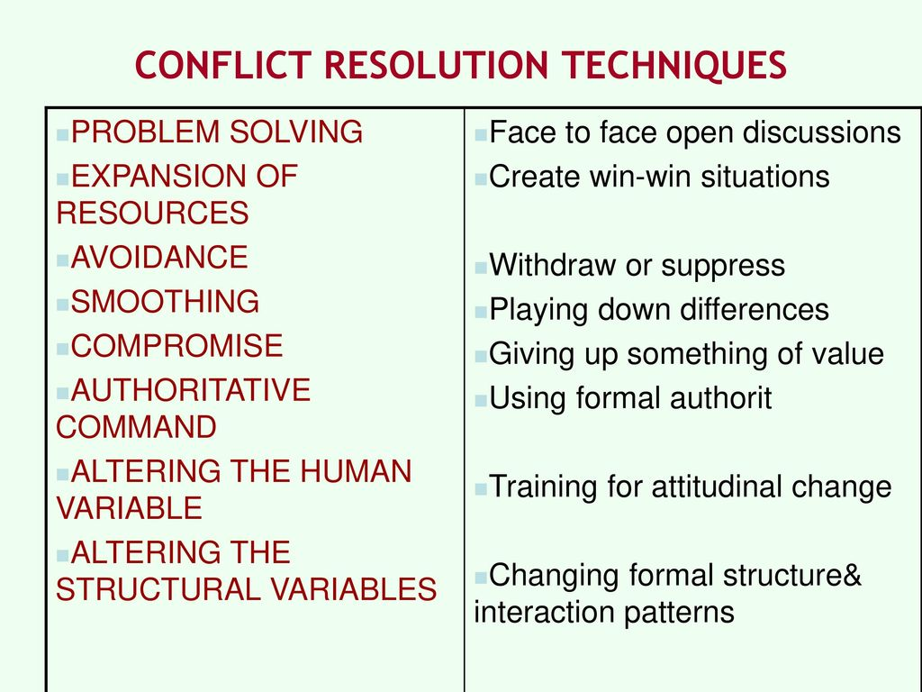 10 Tips for Resolving Conflict