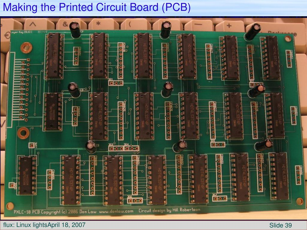 To Control Christmas Lights Ppt Download Making Printed Circuit Boards The Board Pcb