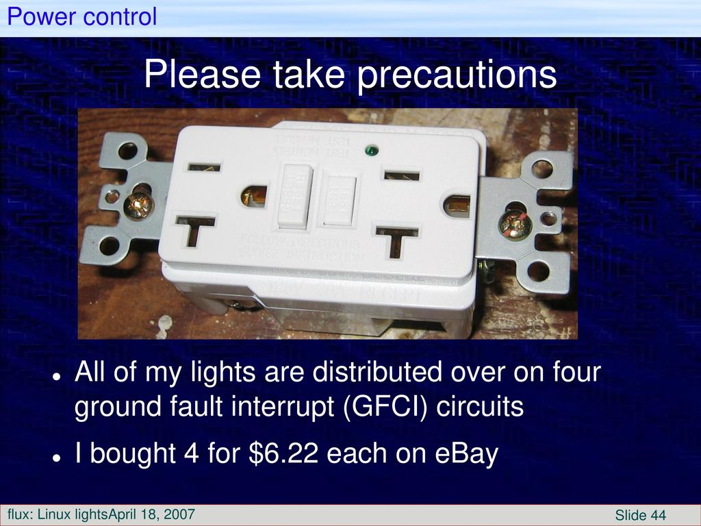To Control Christmas Lights Ppt Download Circuit Breaker Timer Ebay 44 Please Take Precautions