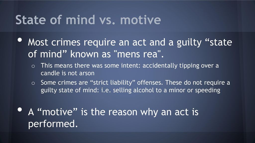 what is motive in criminal law