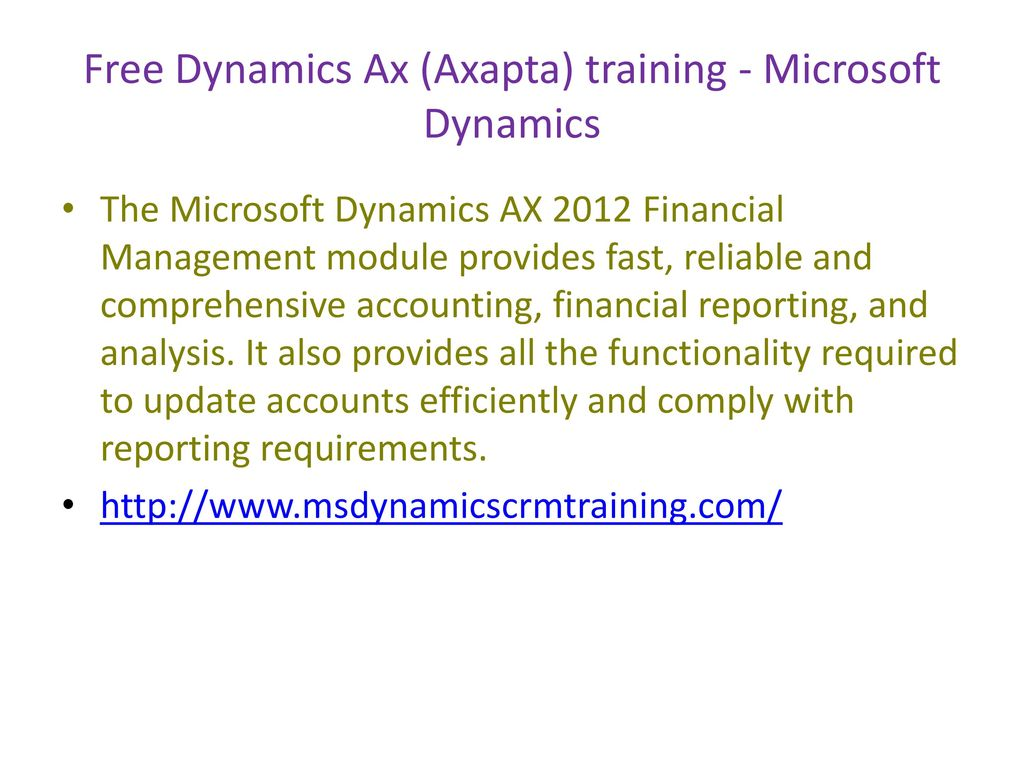 microsoft dynamics ax training philippines ppt download
