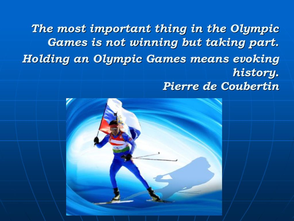 What is the Olympics in our lives 36