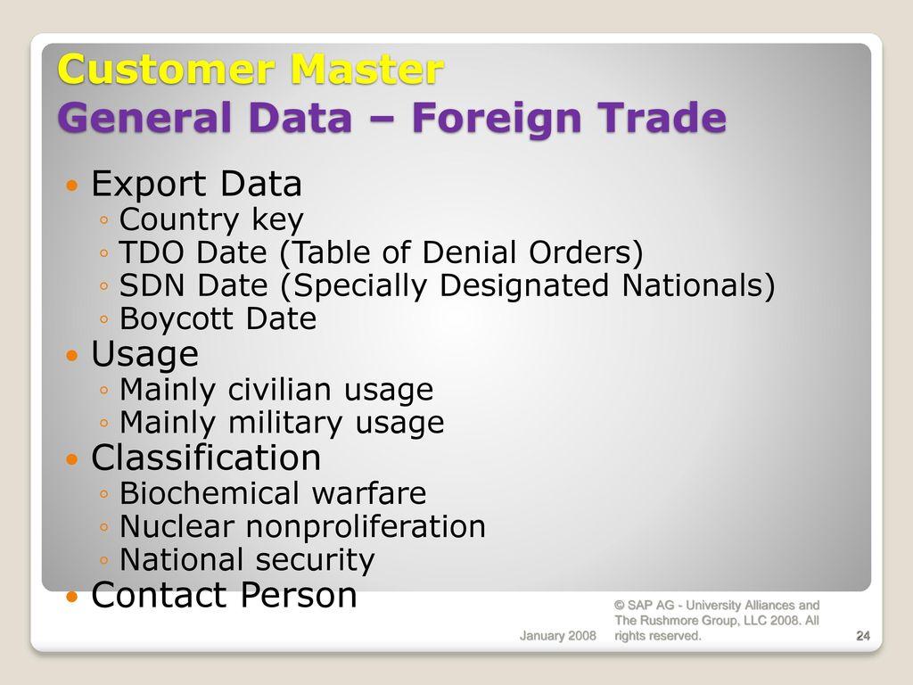 Sales & Distribution Master Data SAP Implementation - ppt